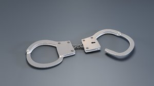 3d model metal handcuffs