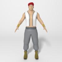 3d persian man model