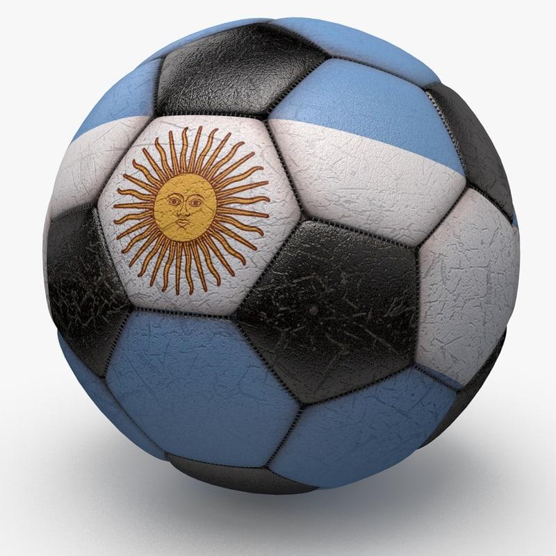 3d model of soccerball ball