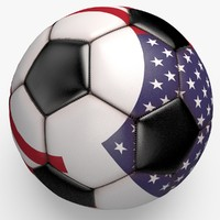 soccerball pro ball black 3d model