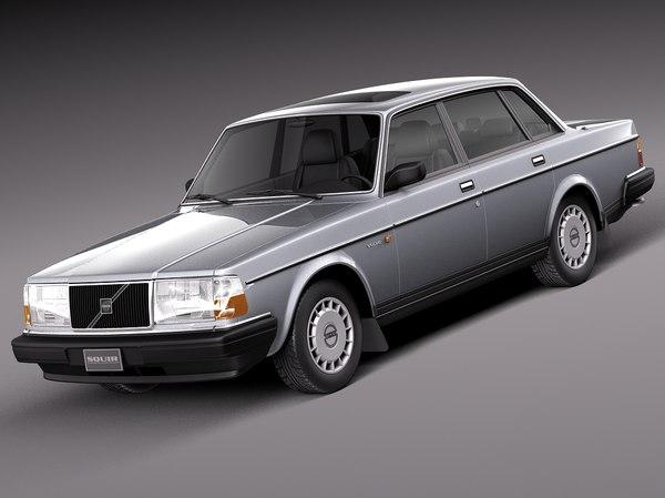 3d model sedan 1993 240