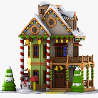Cartoon House Winter 2