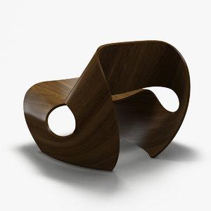 3d cowrie chair model