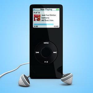 apple ipod nano 3d max