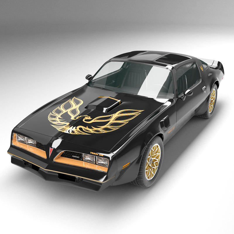 3d model pontiac trans firebird 1978