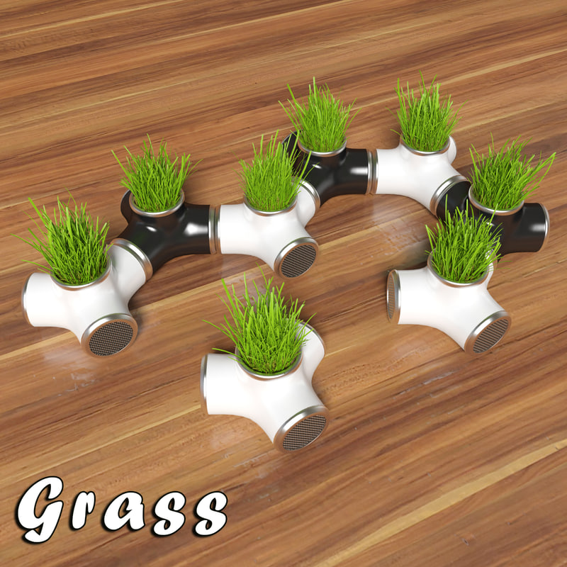 3d pot eco grass model