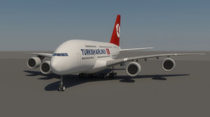 turkish airlines 3d max