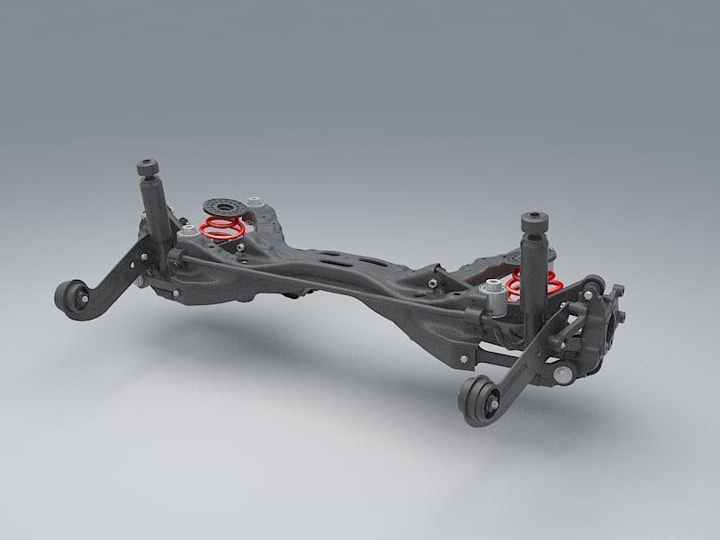 max rear suspension car