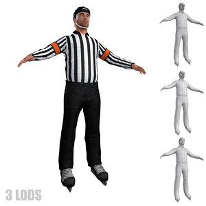 hockey referee 3d model