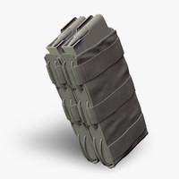 3d double magazine pouch g36 model