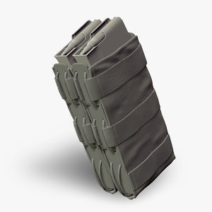 3d double magazine pouch g36 model