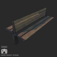 maya wooden bench