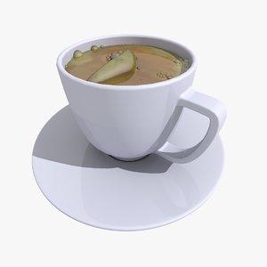 tea cup 2 3d 3ds