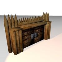 3d medieval gate