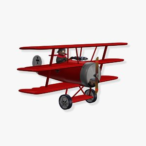 red baron 3d model
