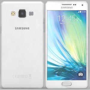 3d samsung galaxy a5 white model