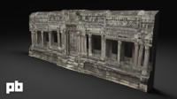 entrance temple ruins 3d obj