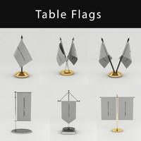 3d model flags