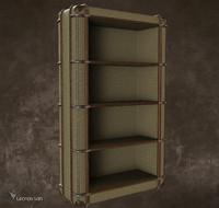 3d richards canvas bookcase s