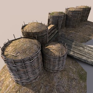 3ds max wicker barrier