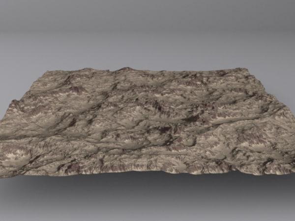 maya terrain mountains maps