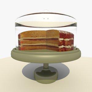 sponge cake platter 3d model