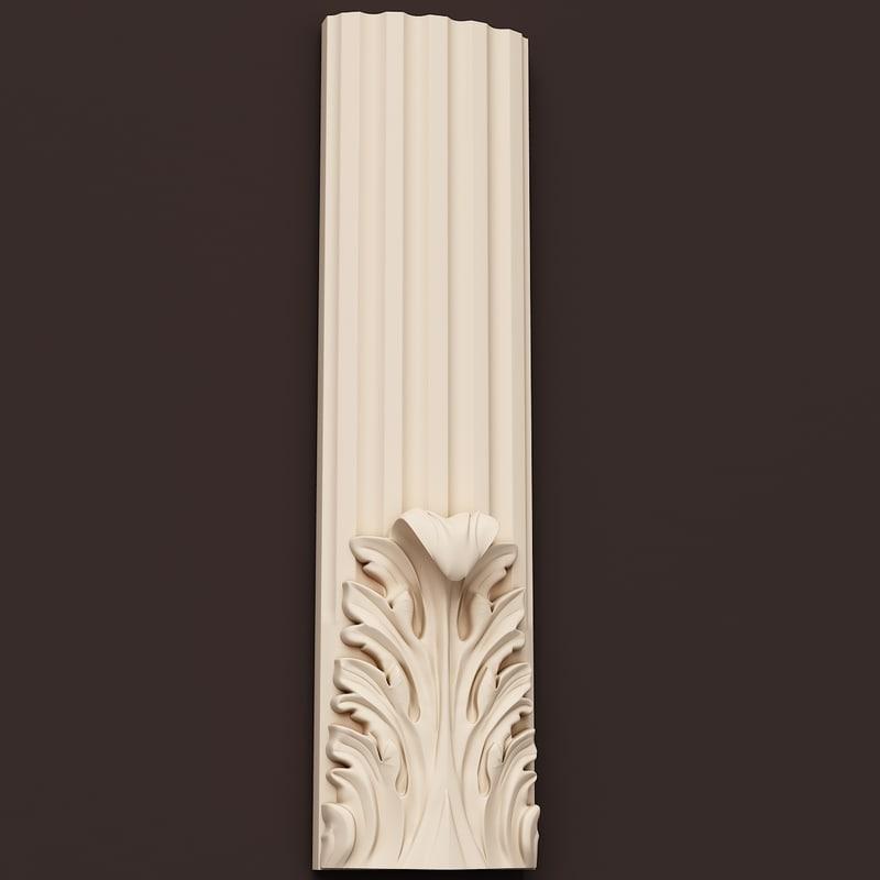 al decoration ornamental interior wall 3d model