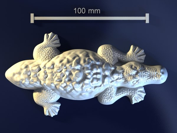 crocodile mold hand 3d max