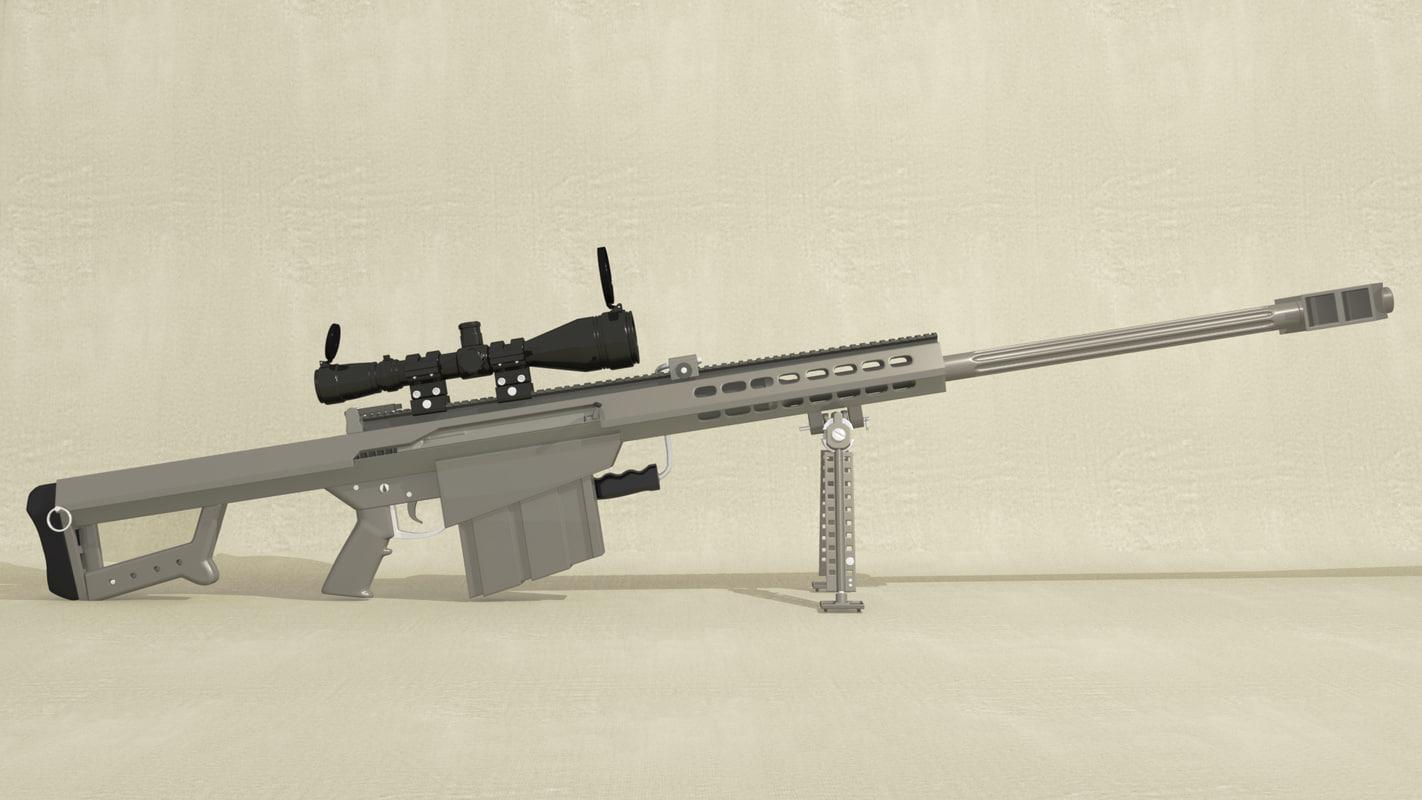 m107 sniper rifle 3d model