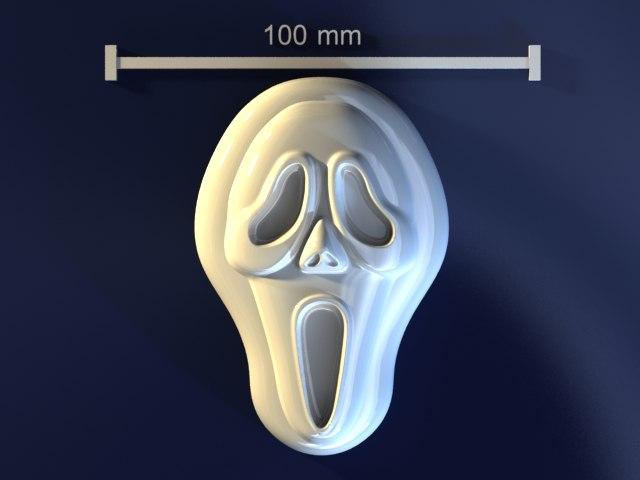 3d model scream skull mold