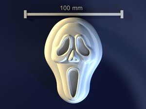 3d model scream skull mold