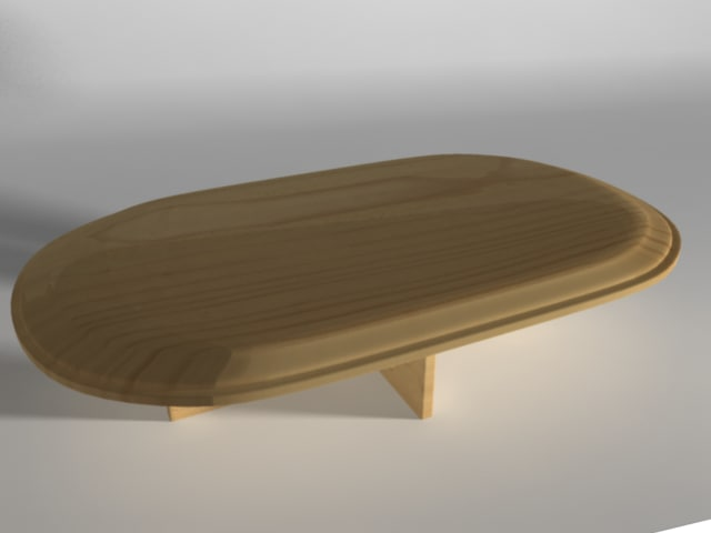 wooden table 3d ma
