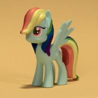 rainbow dash obj