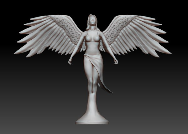 3ds statue angel