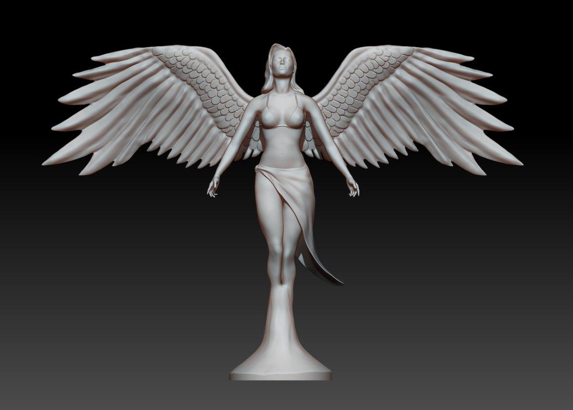 3ds statue angel