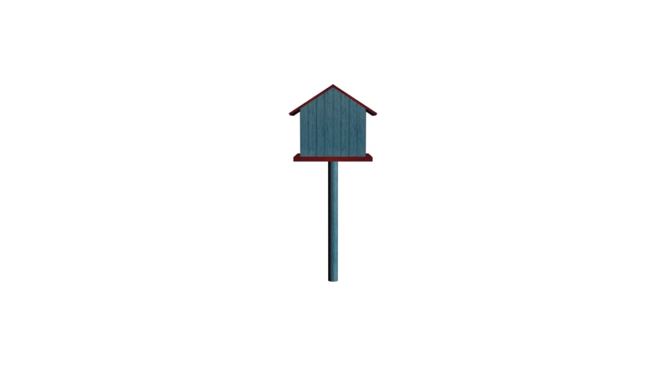 3d model small bird house