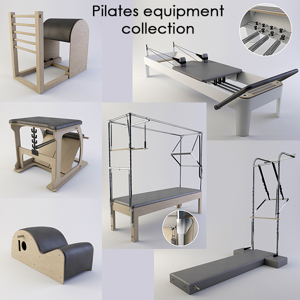 3d pilates equipment model