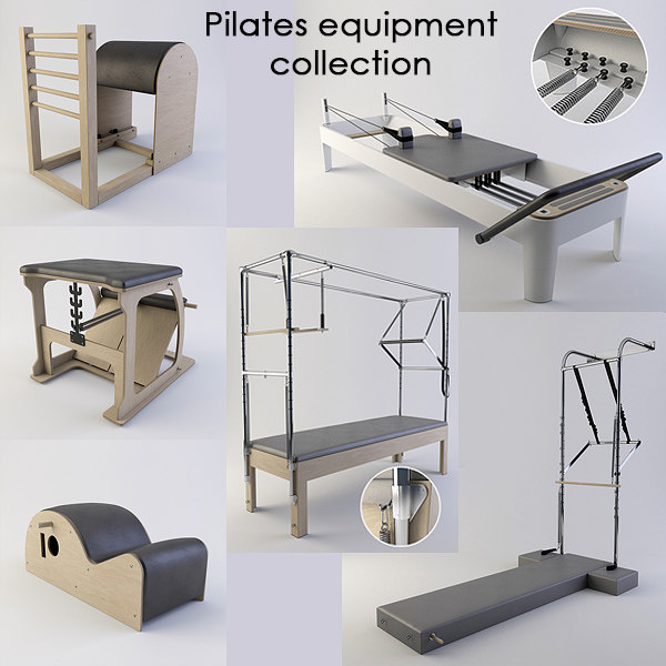 Used Pilates Equipment For Sale In Los: 3d Pilates Equipment Model