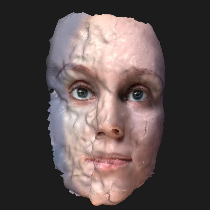 3d model face 2