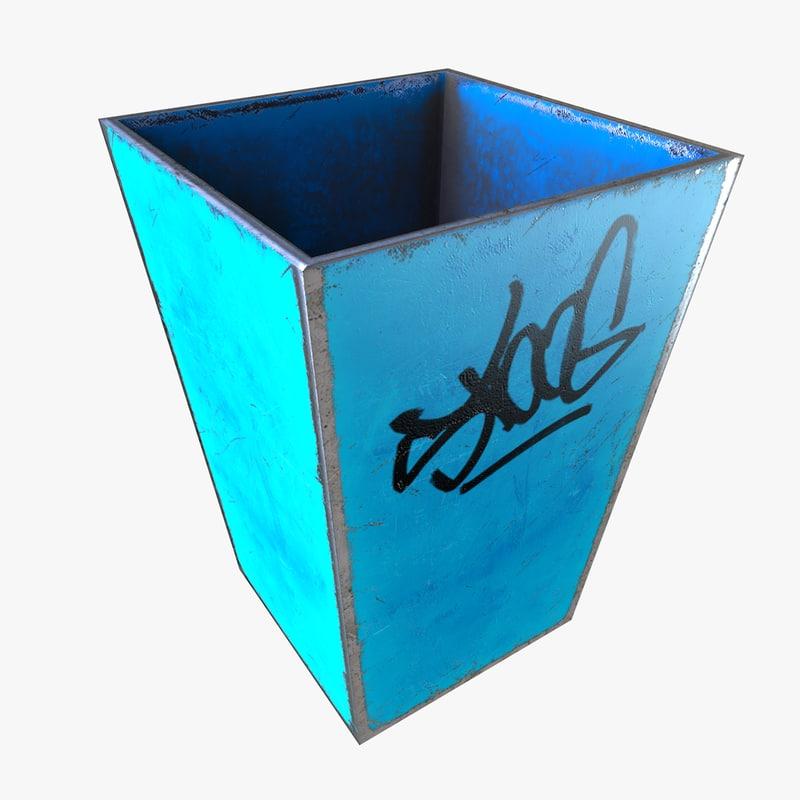 simple trash 3d model
