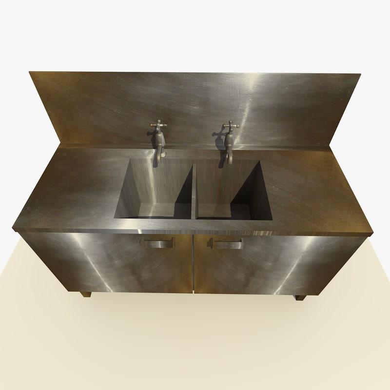 old sink 3d model