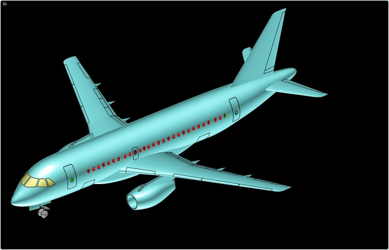 3d model sukhoi s100 superjet aircraft