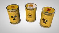 c4d waste barrels