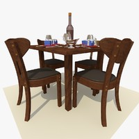 maya square wooden restaurant dining table