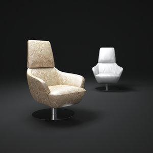 3d model of natuzzi-brend-chair