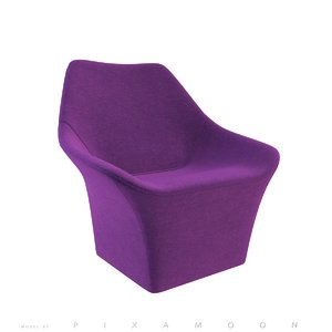 3d rhea armchair estel - model