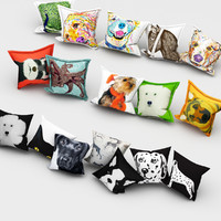 free pillows animals 3d model