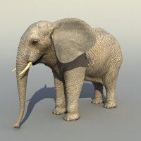 3dsmax realistic elephant