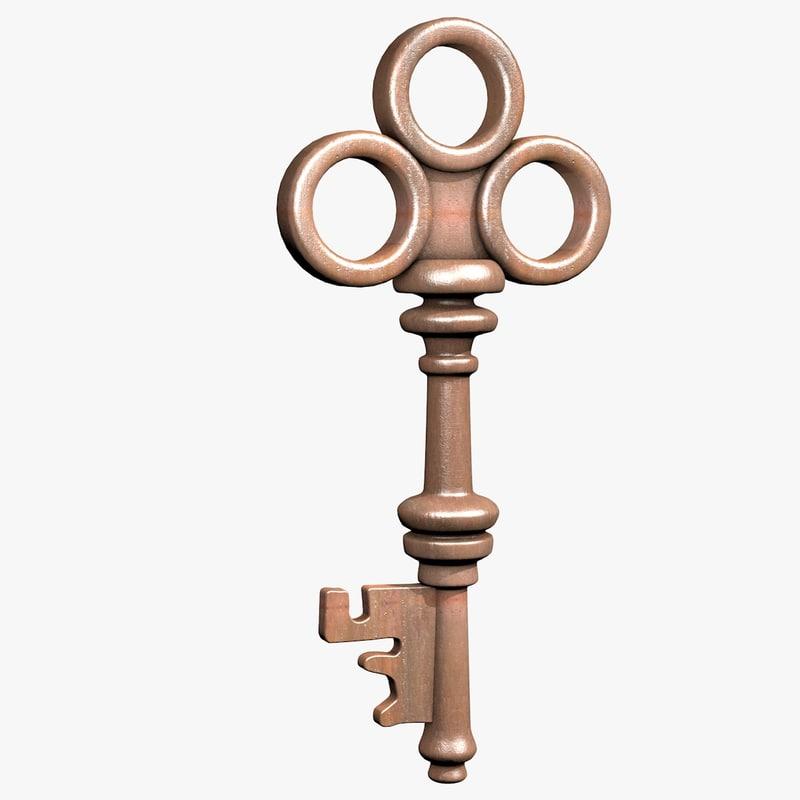 3d old key model