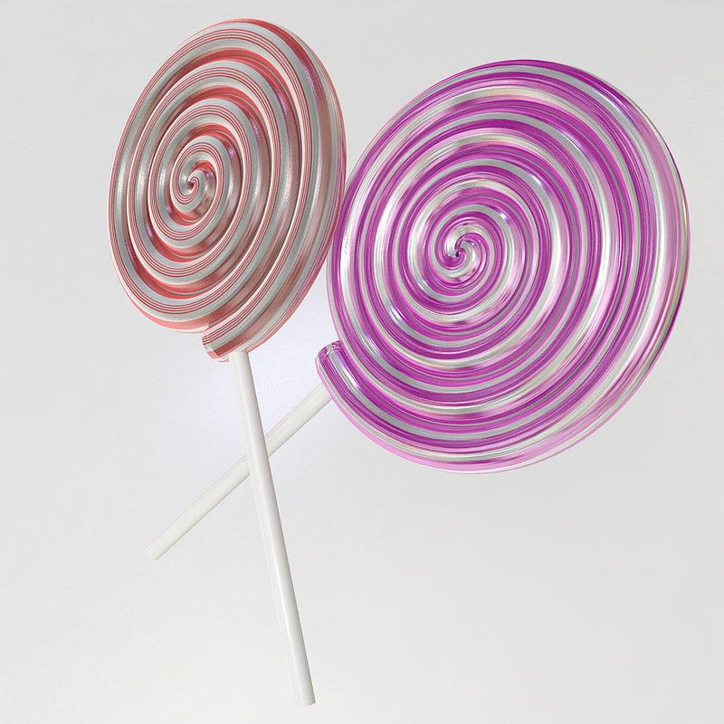 lollipops candy 3d 3ds